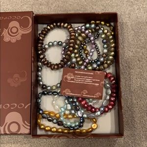 3 for 10 opalescent pearl bracelets